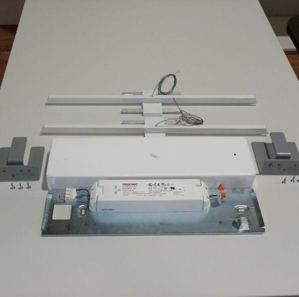 Nimbus L196 S3 3-fach Pendelleuchte LED in aluminium und mattiertes Acrylglas
