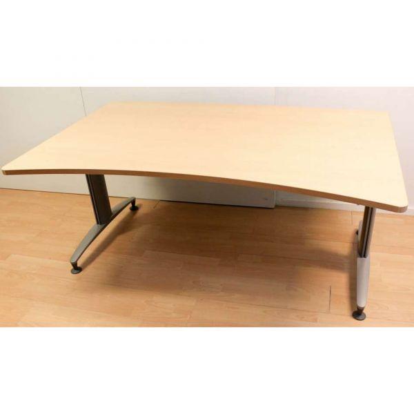 Schärf Space Desk Schreibtisch Buche hell 160 x 90-100 cm