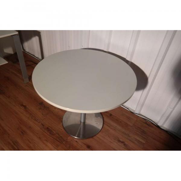 Besprechungstisch rund Platte Lichtgrau Ø 100 cm
