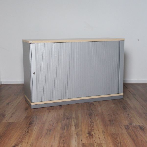 Sedus Sideboard 2OH - Korpus silber - Deckplatte ahorn - Breite 120 cm