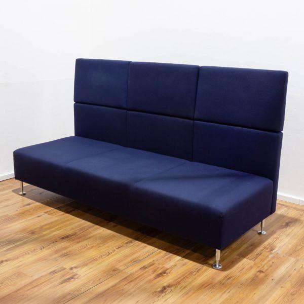 Sedus Sopha Couchelement- Mitte - 3-Sitzer - Stoff blau - Chromfüsse