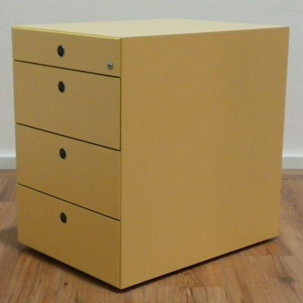 Fantoni Rollcontainer 4-Laden gelb - Korpus gelb - OVP