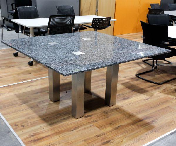 Konferenztisch Granitplatte 140 x 140 cm