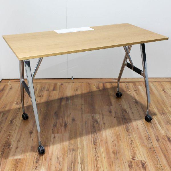 Vitra Ad hoc High Work Arbeitstisch Eiche hell 160 x 80 cm auf Rollen
