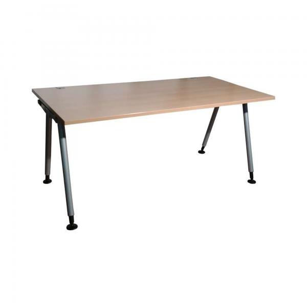 """König & Neurath Schreibtisch """"UNO.S"""" - 160x80cm in buche - Gestell A-Fuß Silber"""