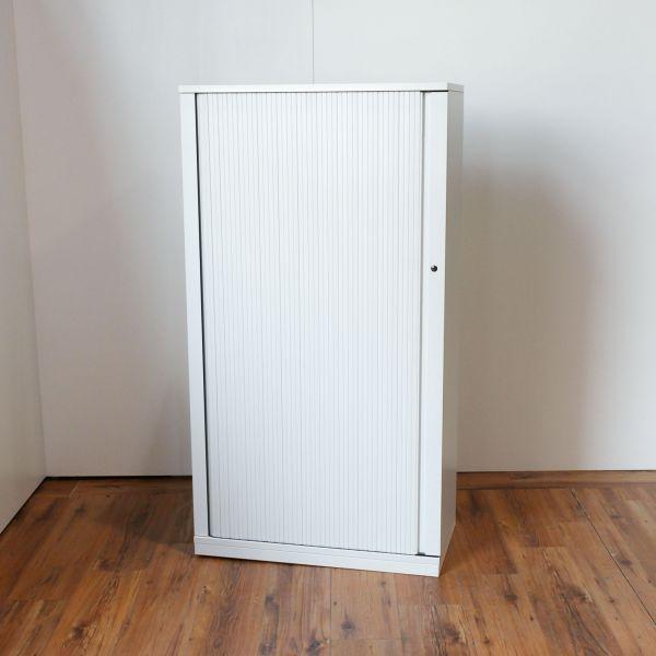 Steelcase Sideboard 4OH - Korpus in weiß - Querrolladen weiß