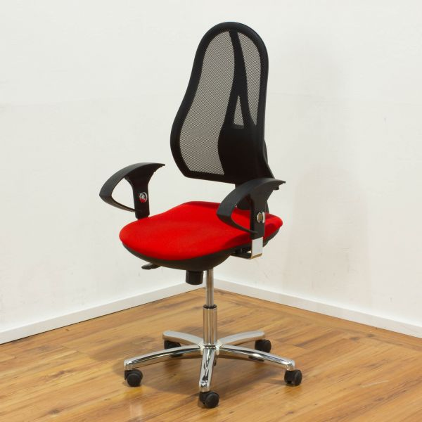 Topstar Open Point Bürodrehstuhl - Sitzpolster rot