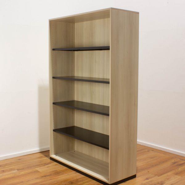 Steelcase Aktenregal 5OH offen eiche - Breite 120 cm