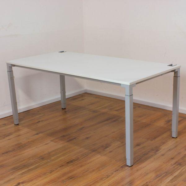 Steelcase Kalidro Schreibtisch - 180 x 80 cm in weiß - Gestell silber